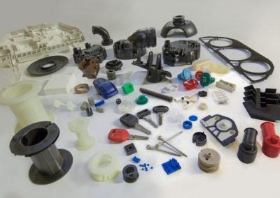 Panel de pièces plastiques injectées