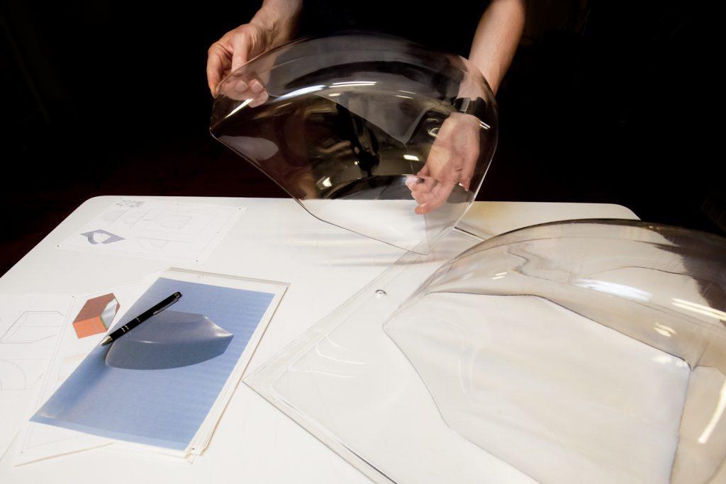 Capot thermoformé en PETG épaisseur 4mm