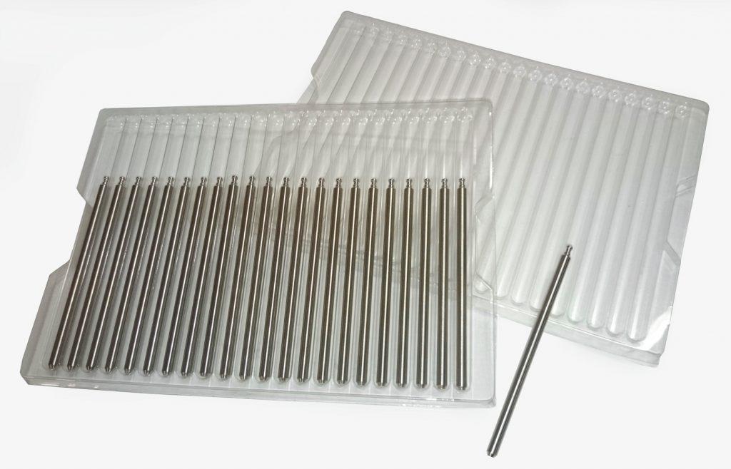 Blister de protection au transport et présentation sur postes de montage en PETG thermoformé
